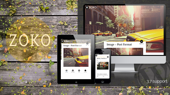 Zoko – Clean Responsive Blogging WordPress Theme