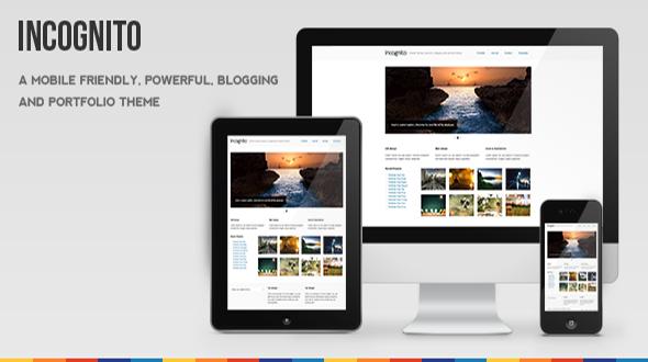 Incognito Mobile Friendly Blogging & Portfolio Theme