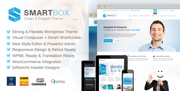 SmartBox. Responsive Multi-Purpose WordPress Theme