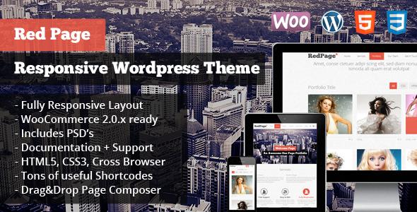 RedPage: Responsive WordPress Theme