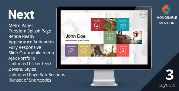 NEXT – WordPress Unique & Easy Portfolio