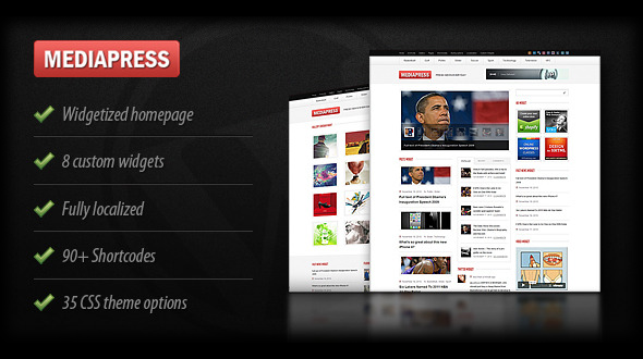 Mediapress Ultimate WordPress News/Magazine Theme