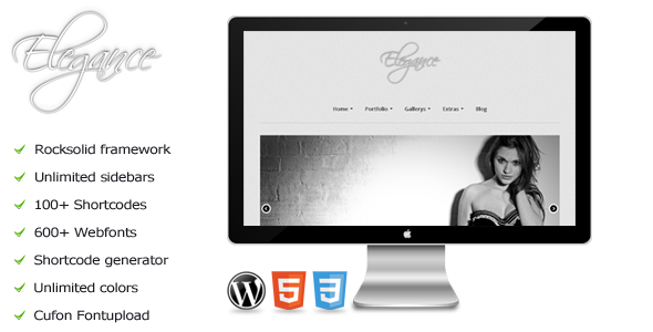 Elegance – a premium WordPress photography theme