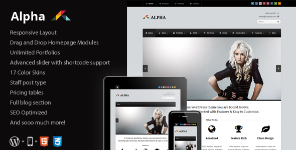 Alpha – Responsive Business WordPress Theme