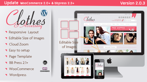 Clothes & Accessory – Responsive WooCommerce Theme 2.0.3
