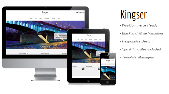 Kingser- Responsive WordPress Theme