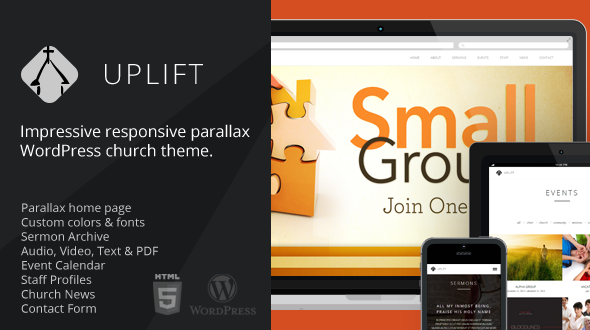 Uplift – Church WordPress Theme (Responsive)