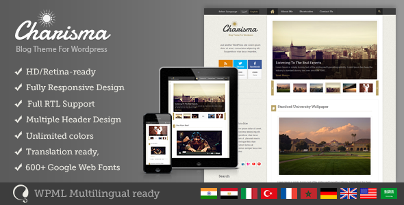 Charisma – Premium WordPress Blog Theme