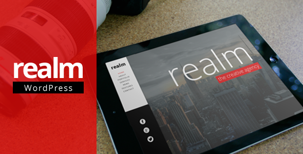REALM – One Page Parallax Retina WordPress Theme