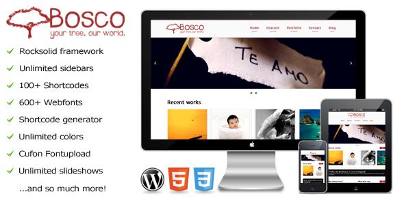 Bosco – a premium WordPress theme