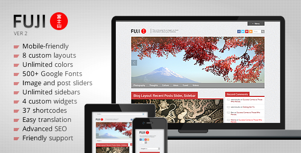 Fuji – Clean Responsive WordPress Theme