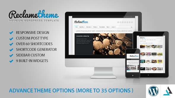 Reclame – Resposive WordPress Theme