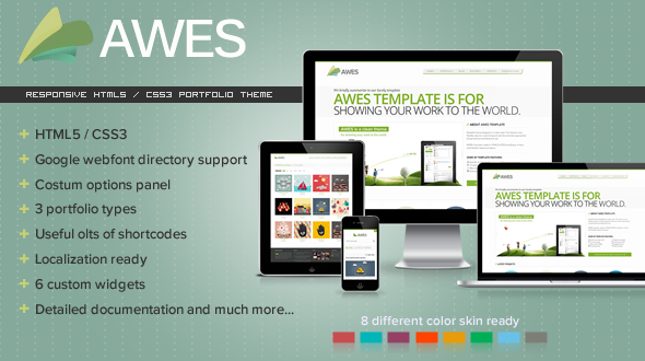 AWES – Responsive WordPress Theme