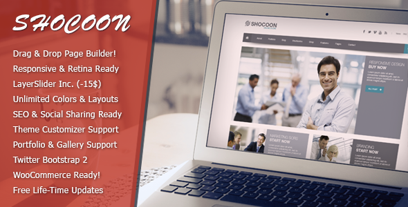 Shocoon – Responsive Business & Shop WP Theme