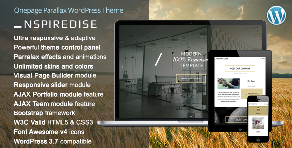 _NSPIREDISE – Onepage Parallax WordPress Theme