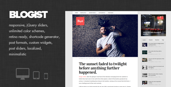 Blogist – Personal Blog theme