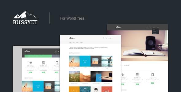 Bussyet – Responsive Portfolio WordPress Theme
