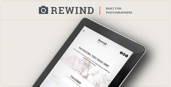 Rewind – Photography Retina WordPress Theme