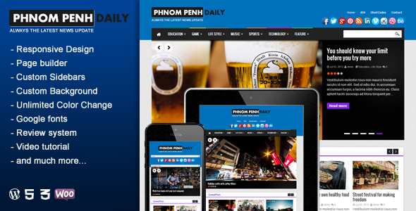 Phnom Penh Daily – WordPress Blog & Magazine Theme