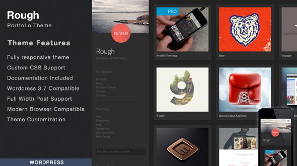 Rough – WordPress Portfolio Theme