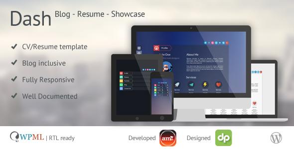Dash – WordPress Resume | vCard | Blog | Personal