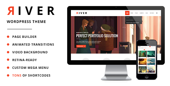 River – Retina Multi-Purpose WordPress Theme