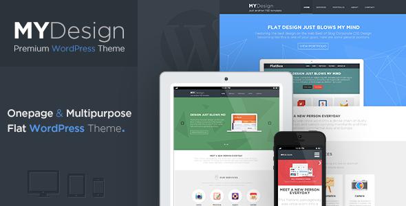 MYDesign – Onepage Multipurpose Flat WP Theme