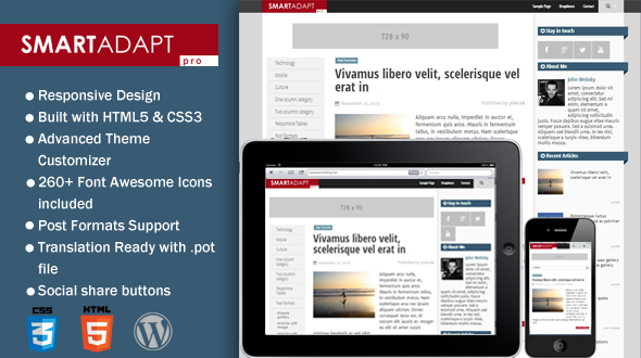 SmartAdapt Pro – Clean & Responsive WordPress Theme