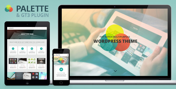 Palette – One Page Parallax WordPress Theme