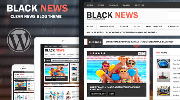 BlackNews – News Magazine Premium WordPress Theme