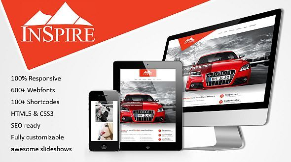 Inspire – responsive WordPress Multipurpose Theme