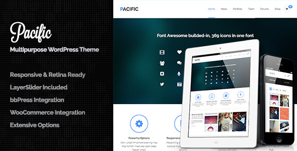 Pacific – Responsive & Retina Ready All in One