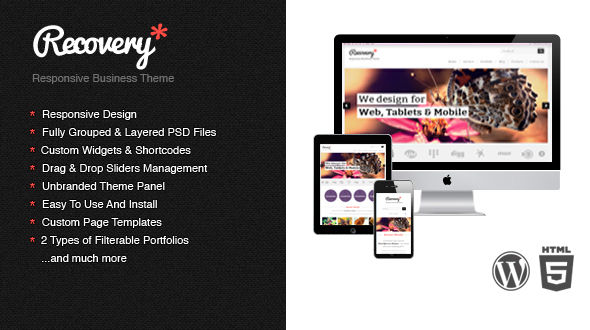 Recovery – Responsive WordPress Template