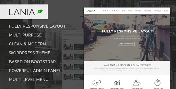 Lania – MultiPurpose WordPress Theme