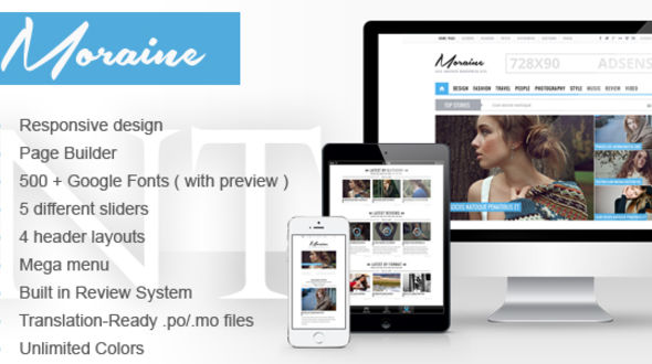 Moraine – Magazine WordPress Theme