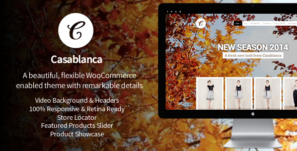 Casablanca Responsive WooCommerce Theme with Video