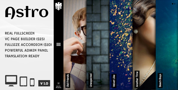 Astro – Showcase/Photography WordPress Theme
