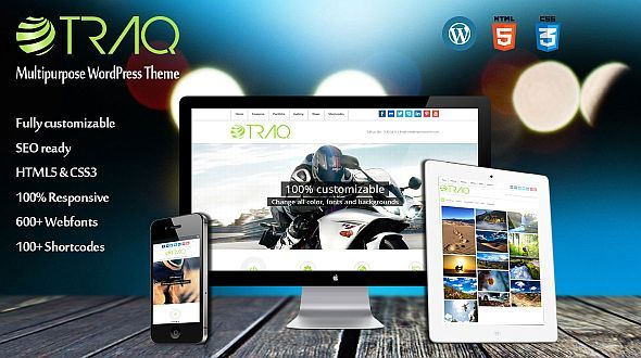 Traq – Responsive WordPress Multipurpose Theme