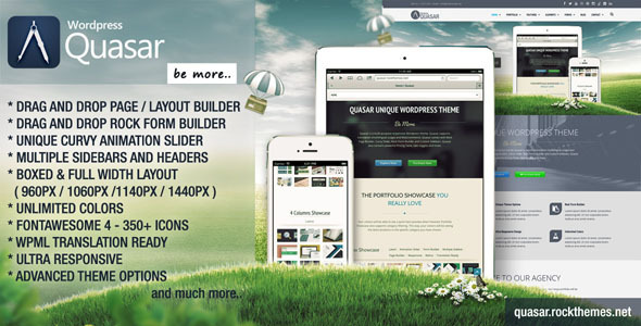 Quasar – WordPress Theme with Animation Builder