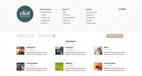 eList Directory WordPress Theme