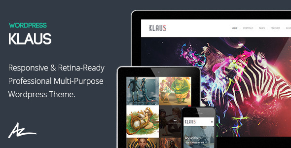 Klaus – Retina Multi-Purpose WordPress Theme