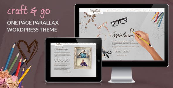 Craft&Go – Parallax OnePage Modern WordPress Theme