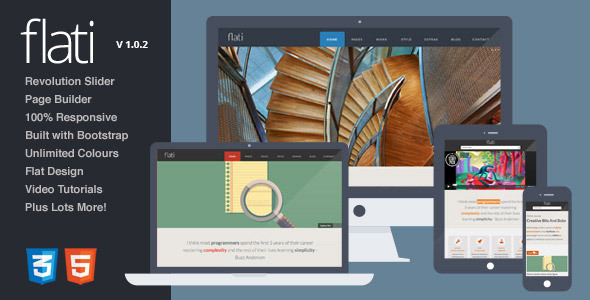 Flati – Responsive Flat Bootstrap WordPress Theme