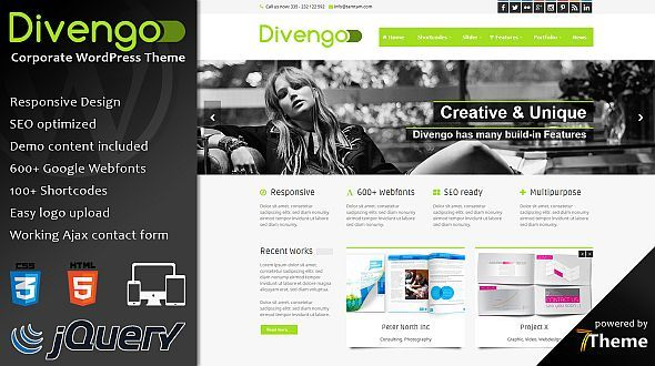 Divengo – Corporate WordPress Theme