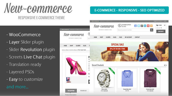 New-commerce – Responsive e-Commerce Theme