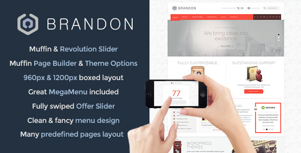 Brandon – Responsive Multi-Purpose WordPress Theme