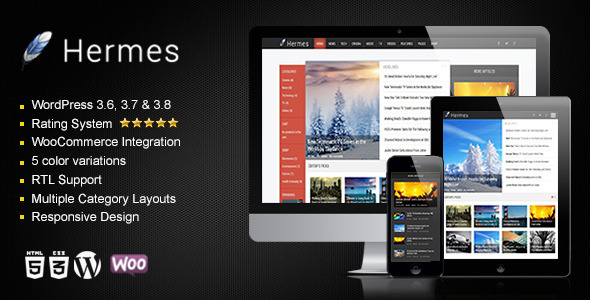 Hermes – Responsive WordPress Theme