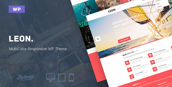 Leon – MultiColor Responsive HTML5 WP Theme