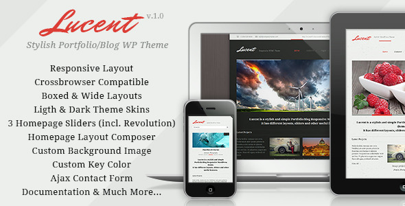 Lucent – Responsive Portfolio/Blog WordPress Theme
