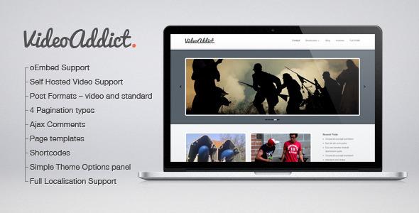 VideoAddict – WordPress Video Theme